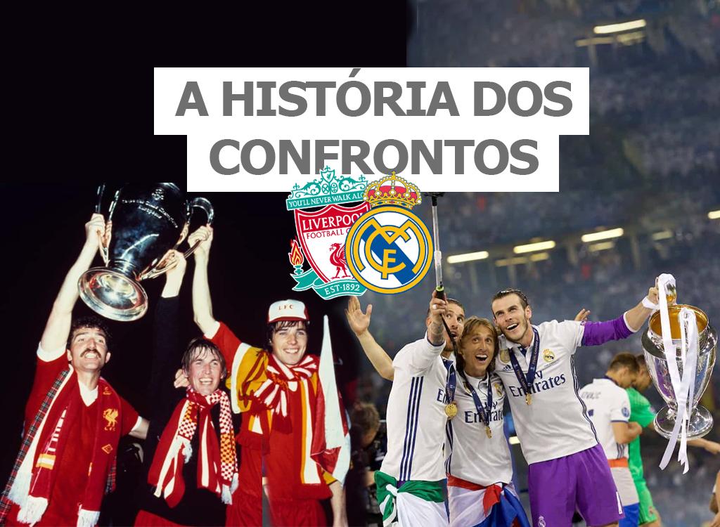 A história dos confrontos entre Real Madrid e Liverpool